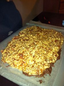 Chocolate Bacon Almond Brittle