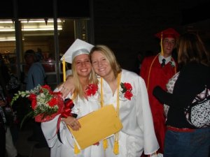 Kourtney and Kelly at Graduation