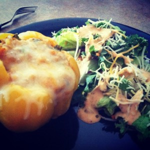 healthy stuffed bell peppers