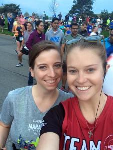 Brandi Buzzard Frobose and Kelly Rivard Garmin Half Marathon